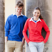 Women's long sleeve plain rugby shirt