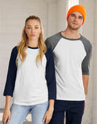 Canvas 3/4 Sleeve Baseball T-Shirt