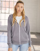 Unisex  Zip-up Polycotton Fleece Hoodie