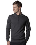 Kustom Kit Mens L/S Arundel Knitted Polo