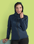 SG Ladies Hooded Contrast Softshell