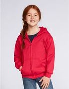 Gildan Children's Zipped Hooded Sweat