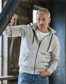 Tee Jays Mens Full Zip Hooded Sweat
