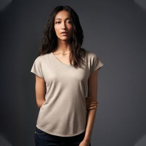 Anvil Womens Tri-Blend V-Neck Tee Thumbnail